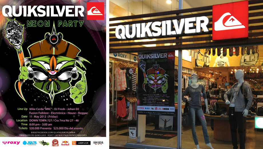 Poster Quiksilver Neon Party