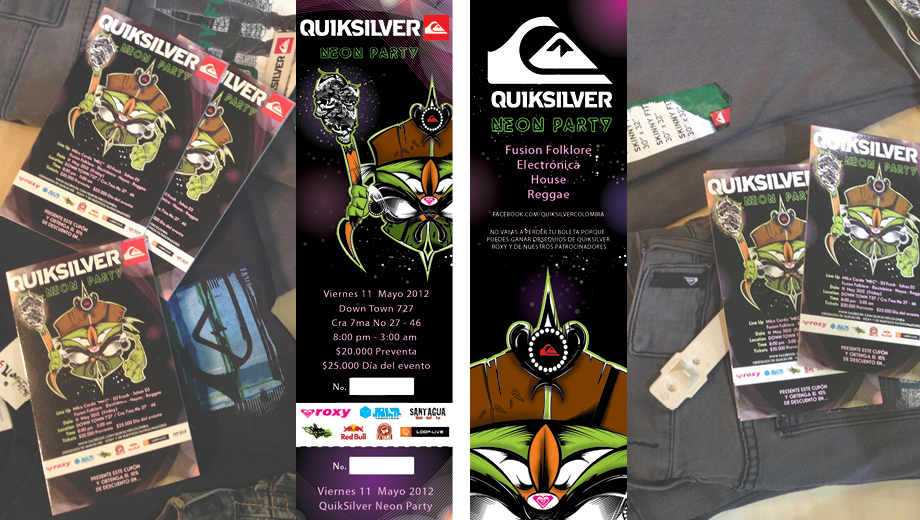 Ticket Quiksilver Neon Party