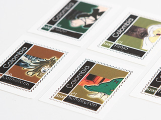 Colombian Leyends Stamps